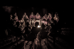 Photo of Maasai story circle by Joan de la Malla